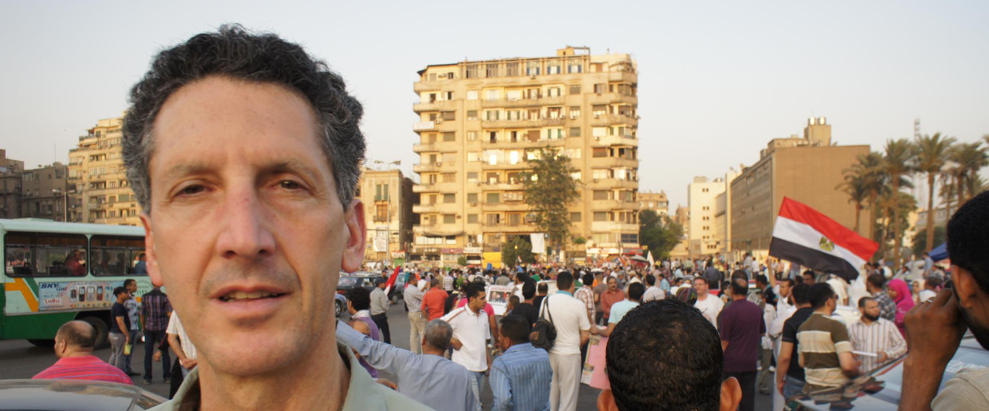 Joseph in Tahrir Square, Cairo, during demonstrations in between rounds of Presidential elections, May, 2012